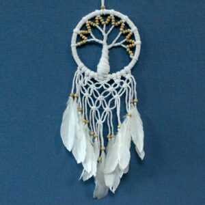Tree of Life Dreamcatcher Pure and Natural 16cm Macrame Dreamcatchers Tree of Life