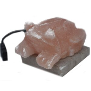 USB Toad Shaped  Light Quality Himalayan Salt Lamps & Candle Holders