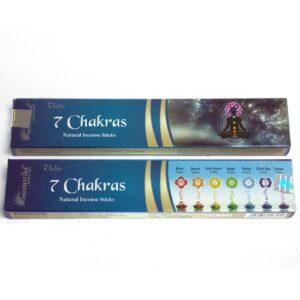 Vedic Incense Sticks 7 Chakras Box of 12 Vedic Incense Sticks - 15g