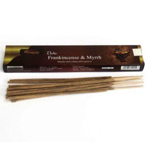 Vedic Incense Sticks Frank and Myrrh Box of 12 Vedic Incense Sticks - 15g