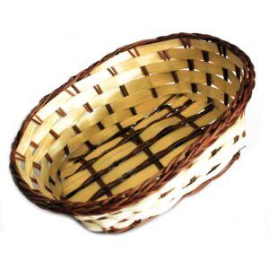 Village Baskets Bamboo and Awn Oval 20cm Village Baskets