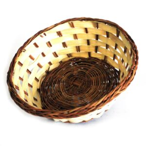 Village Baskets Bamboo and Awn Round 19cm Village Baskets