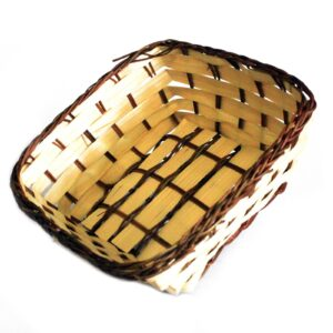 Village Baskets Bamboo and Awn Square 16.5cm Village Baskets