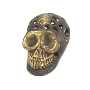 Vintage Brass Skull Small Brass Fengshui Objects