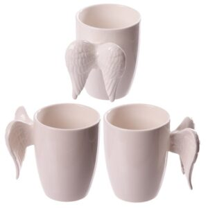 White Ceramic Angel Mug with Wings Handle Mugs as Gifts
