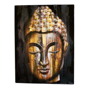 Wood Buddha Golden 60x80cm Bali Original Art