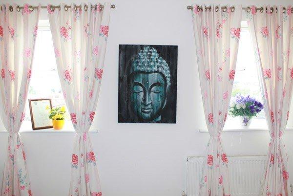 Wood Buddha Green  60x80cm Home Décor