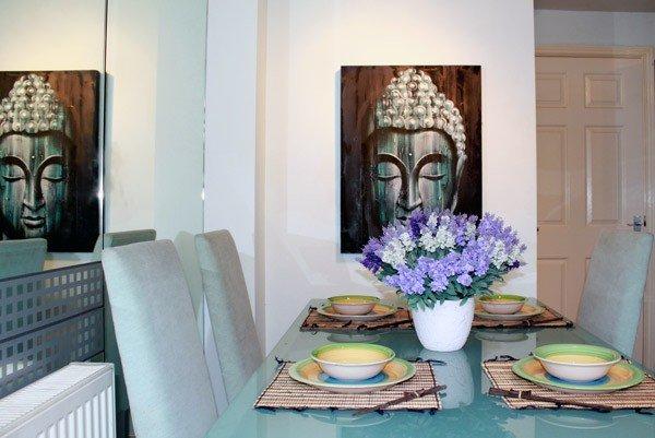 Wood Buddha Green  60x80cm Wall Hangings