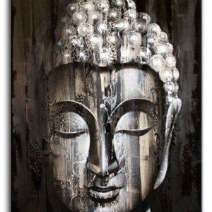 Wood Buddha Silver   60x80cm Bali Original Art