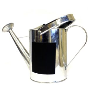 Zinc Lrg Watering Can and Chalk Board Zinc Cans with Chalkboard